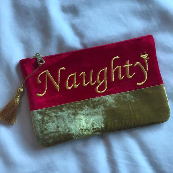 "Shiraleah Handbags - NWOT ""Naughty"" makeup bag/clutch"